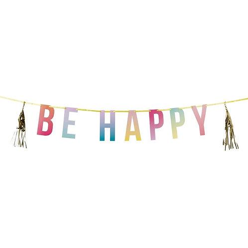 Be Happy Tassel Garland