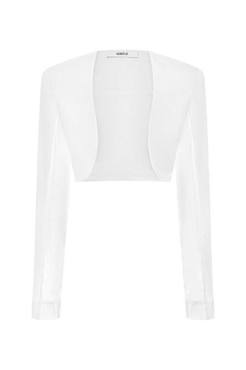 Silk Organza Bolero Jacket