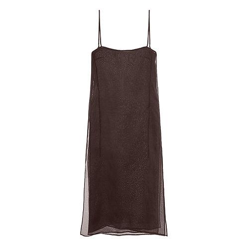 SIDE - SLIT SILK ORGANZA DRESS