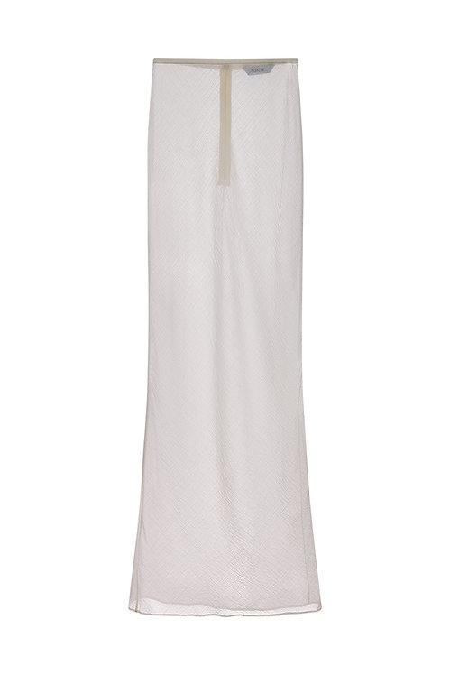 Bias-cut Linen Sheer Skirt