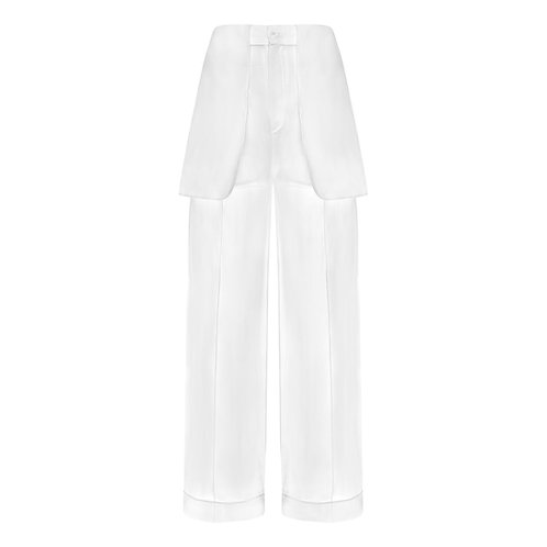 INSIDE - OUT TAILORED SILK TROUSERS