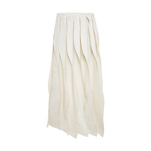 Wave-cut Midi Skirt