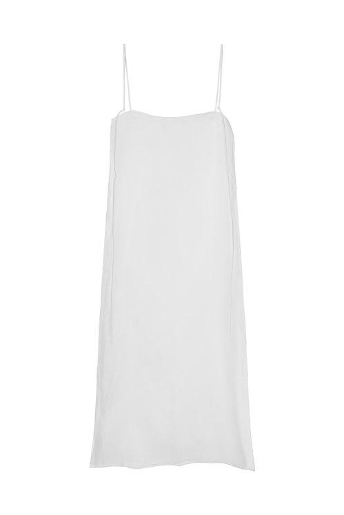 Side-Slit Silk Organza Dress