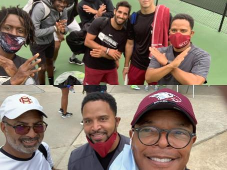 """NCCU Men's Tennis Team in the """"A"""""""