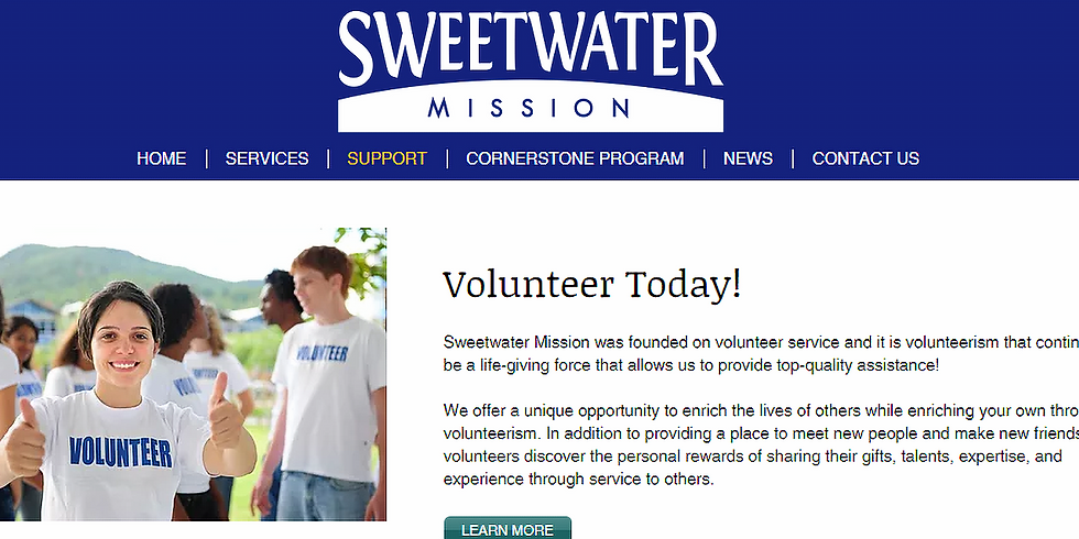 Community Service at Sweetwater Mission