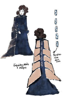 Dragon woman concept art