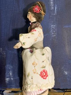 Adeline art doll work in progress