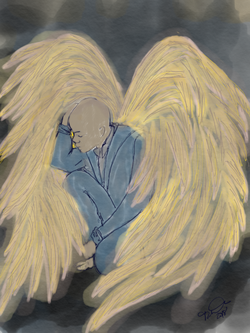 Male Angel with Wings