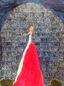 Queen illustration ink on paper