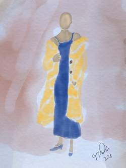 Woman in Yellow Jacket