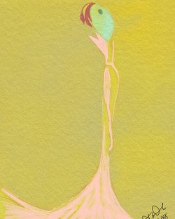 Yellow queen illustration