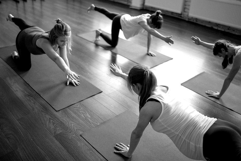 Séance de yoga collectif