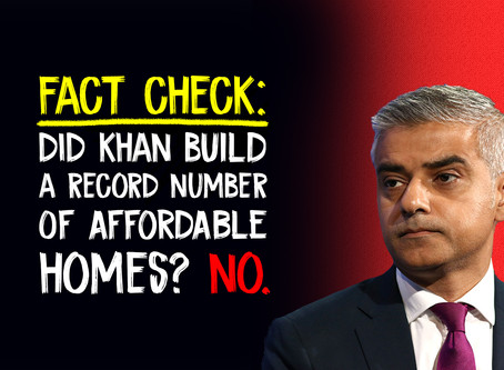 Fact Check: Did Sadiq Khan Build A Record Number Of Affordable Homes? No.
