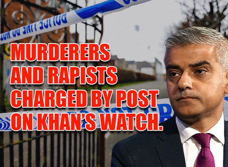 Murder and rape suspects charged by post on Khan's watch