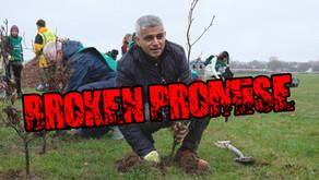Sadiq Khan breaks tree planting election pledge