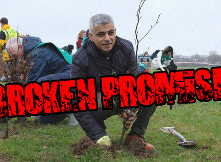Sadiq Khan breaks election pledge to plant two million trees by 2020