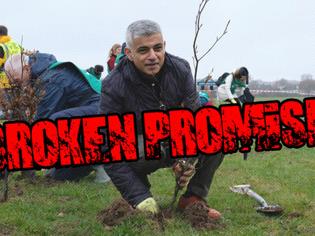 Sadiq Khan breaks tree planting election pledge