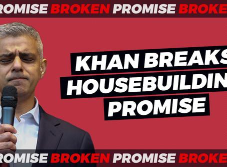 Sadiq Khan breaks TfL housebuilding  promise