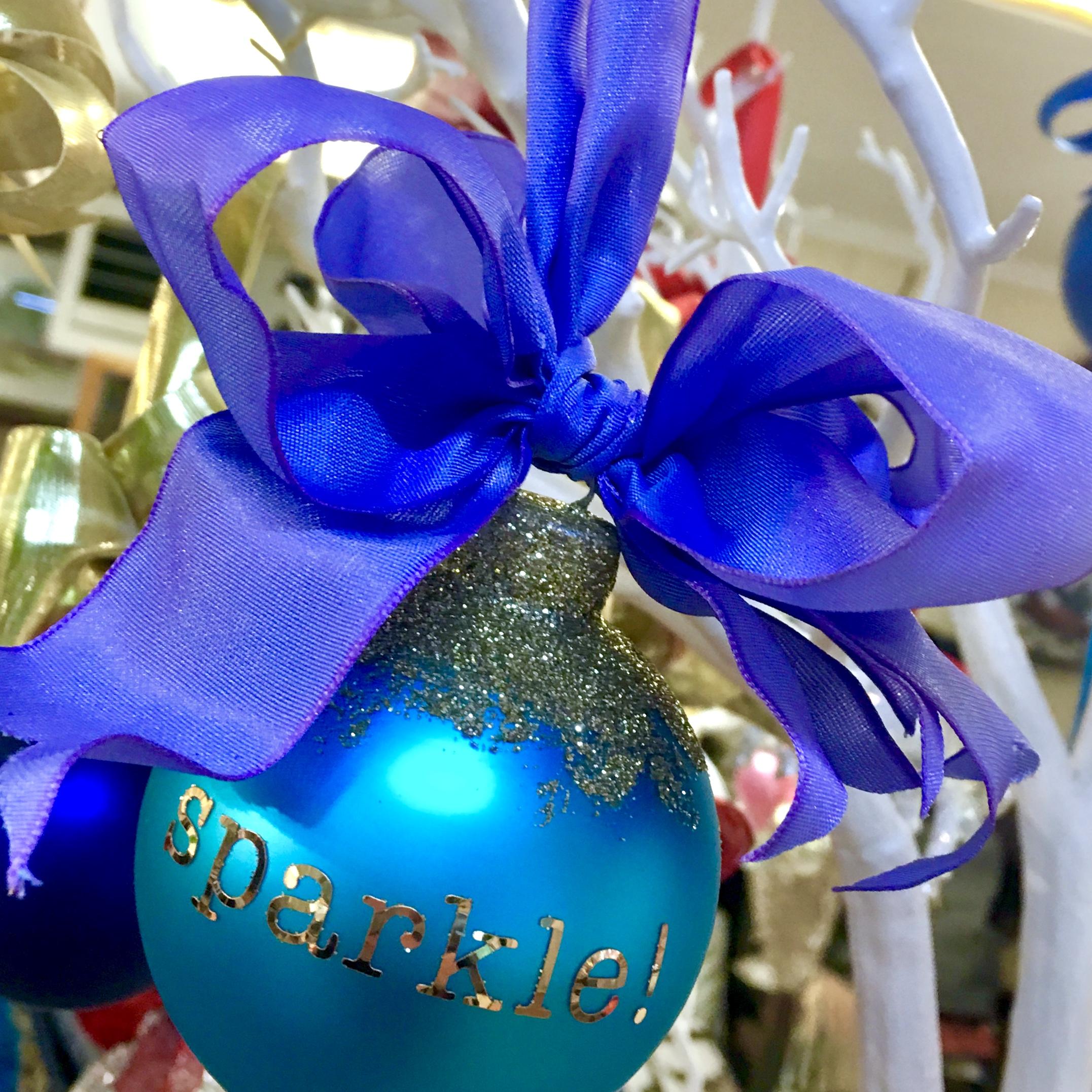 sparkle! glass ornament
