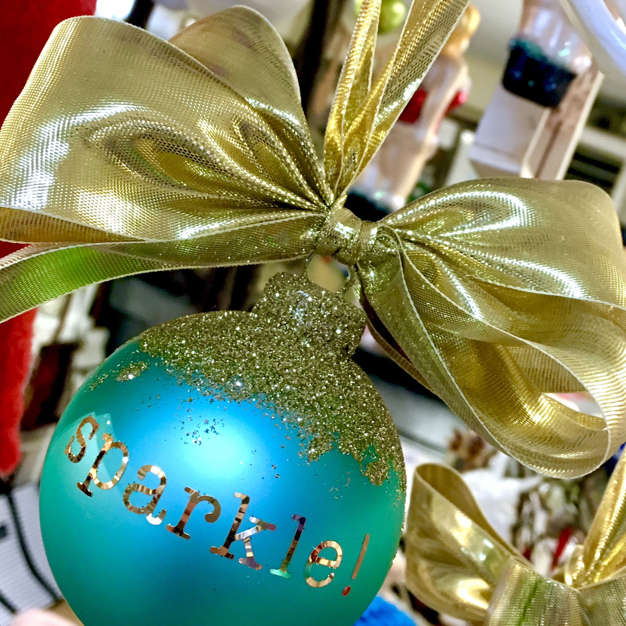 sparkle glass ornament