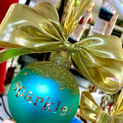 sparkle glass ornament