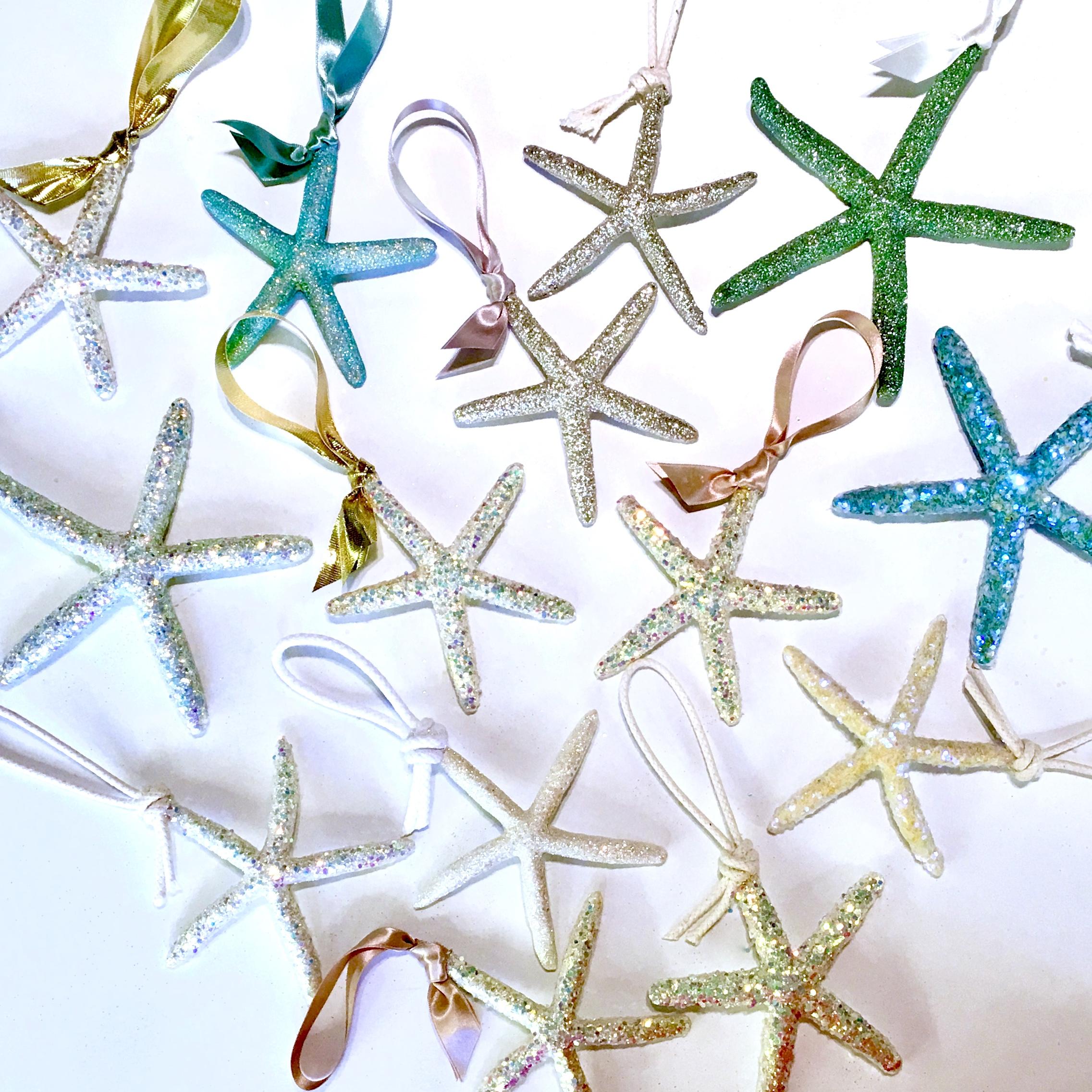 assorted sea star ornaments