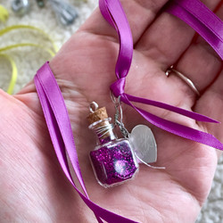 fairydust wishing bottle on ribbon
