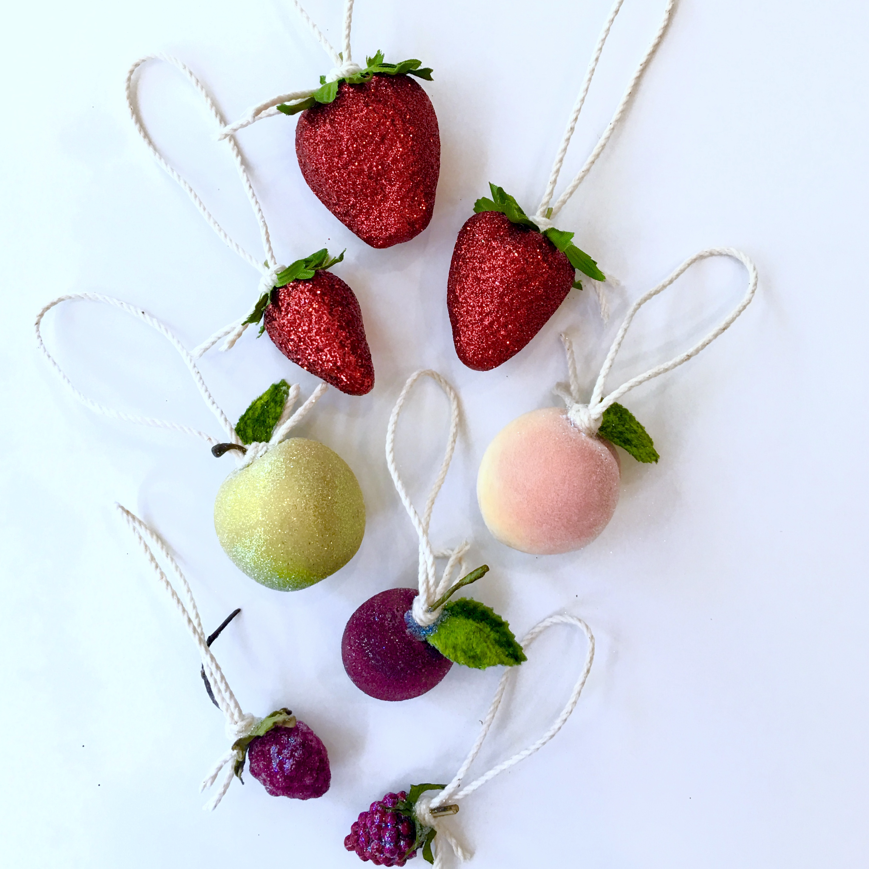 Mini Fruit Ornaments