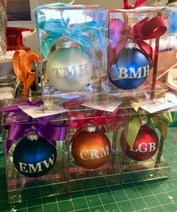 personalized Monogram ornaments