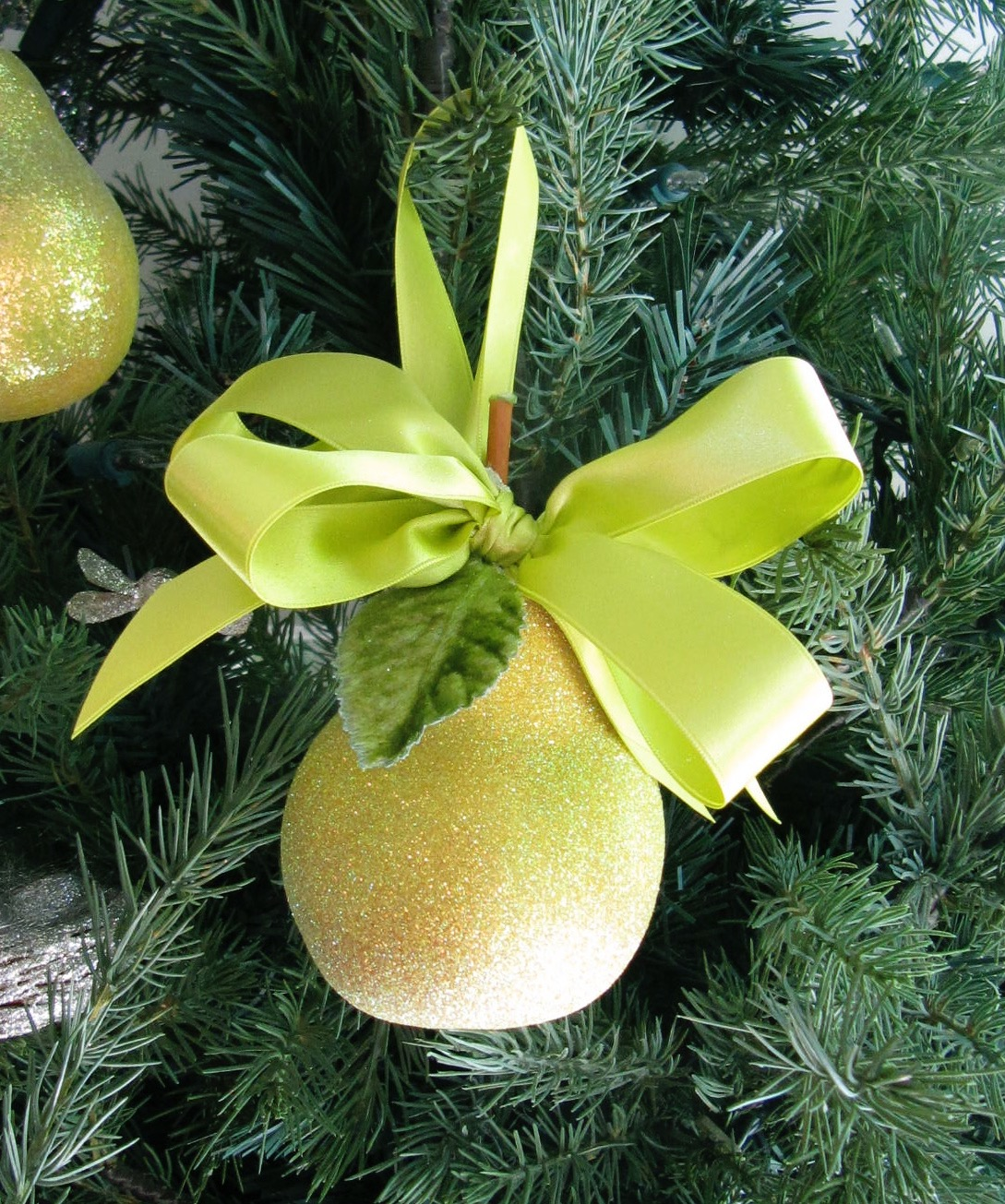 Chartreuse Pear Ornament