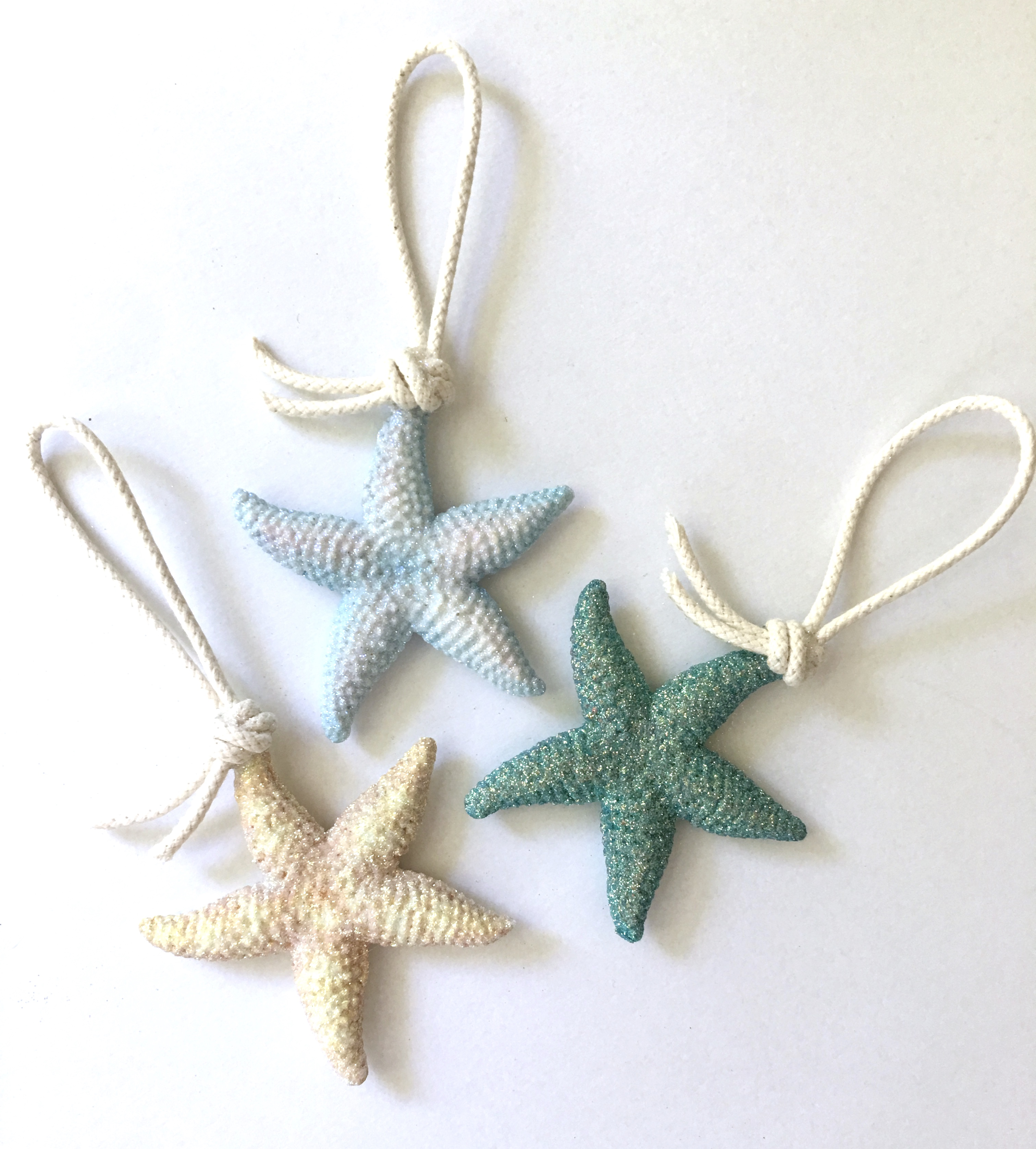 small resin sea stars
