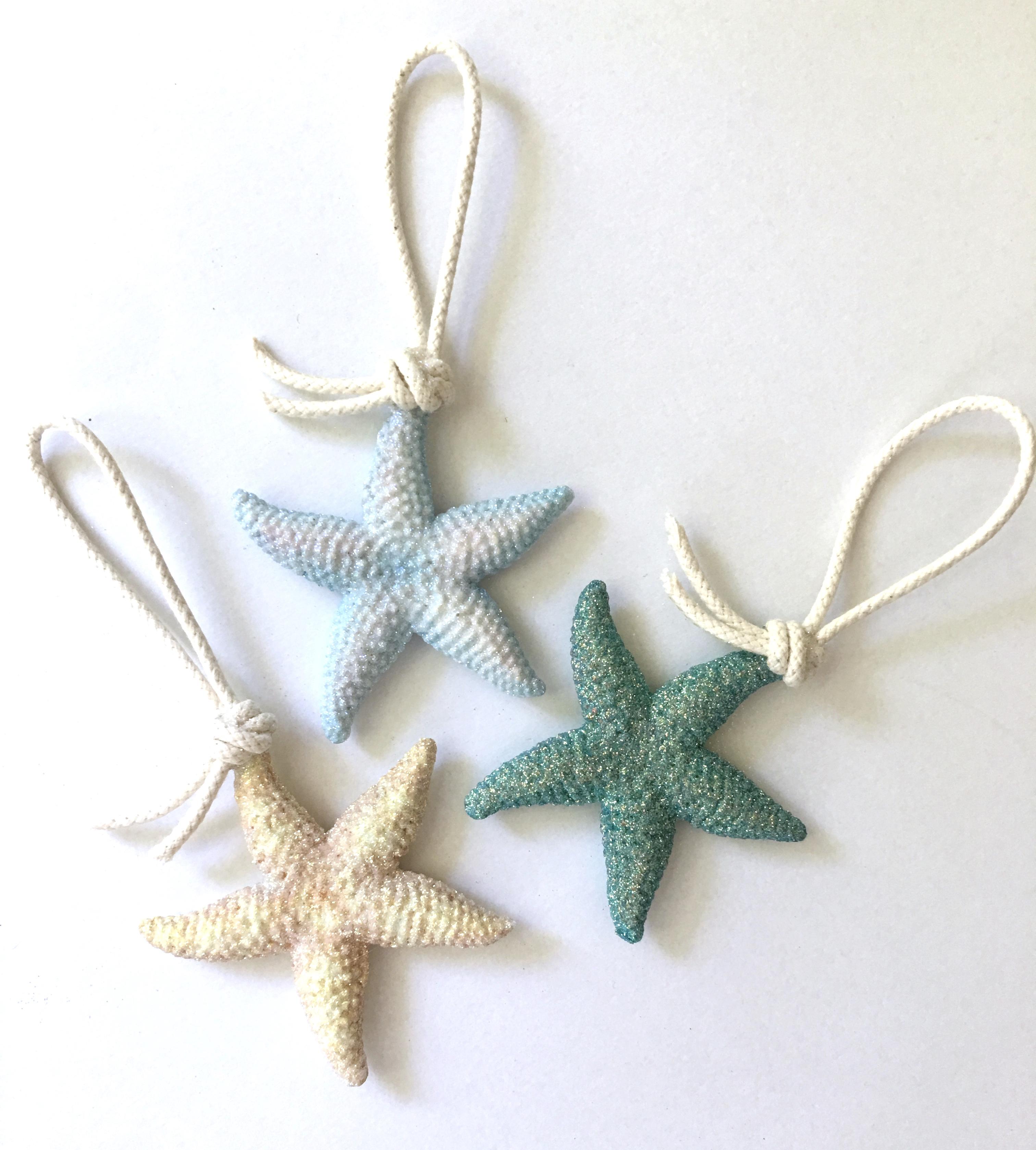 small resin sea stars