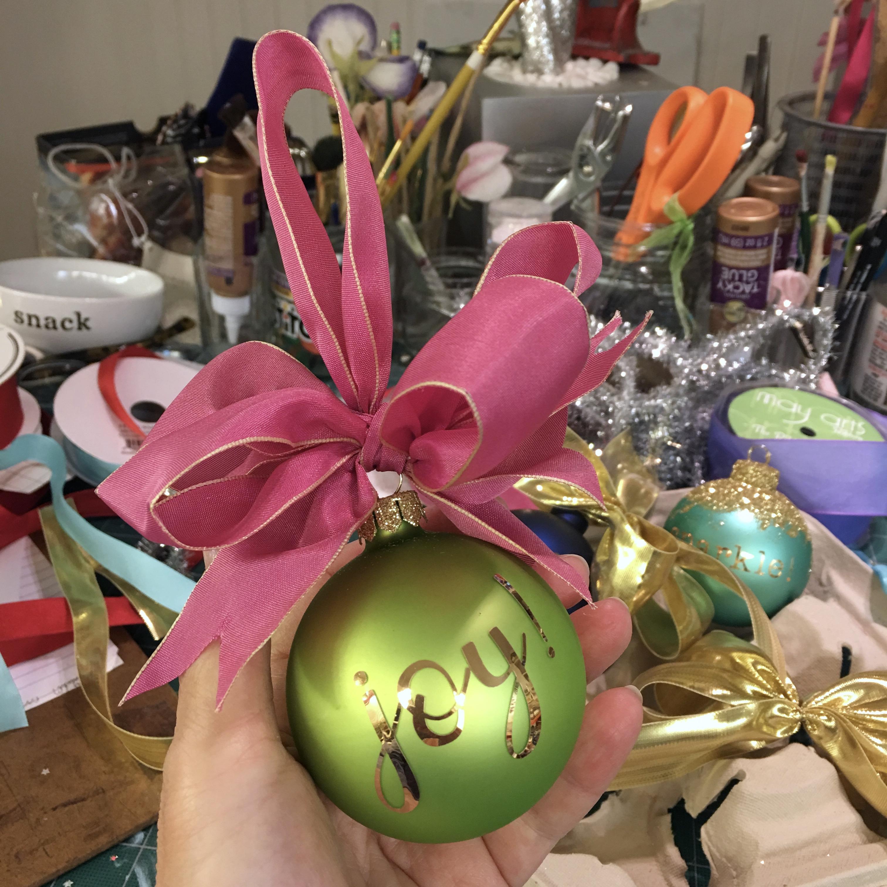 joy! glass ornament