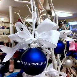 #wearewilton glass ornament