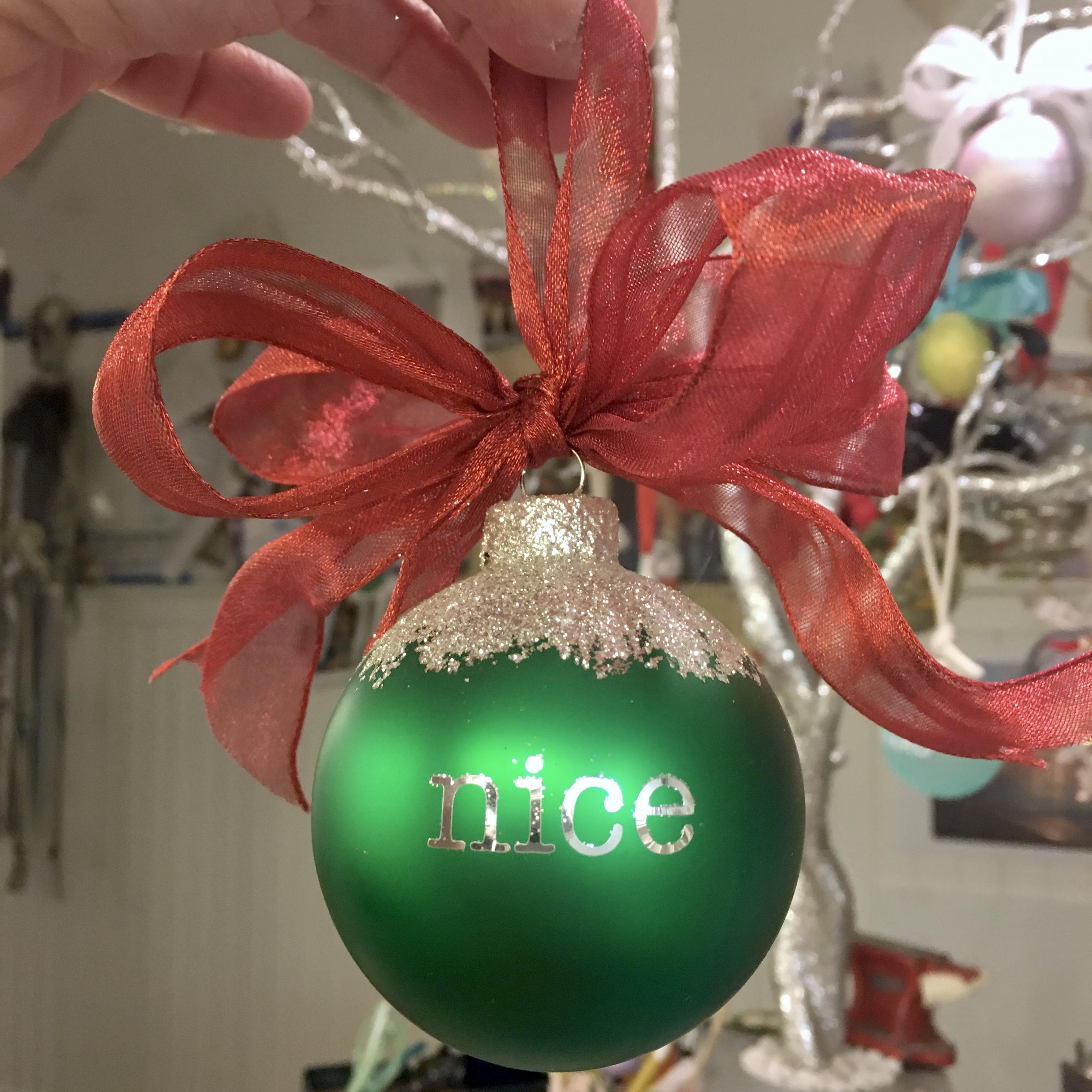 naughty/nice ornament