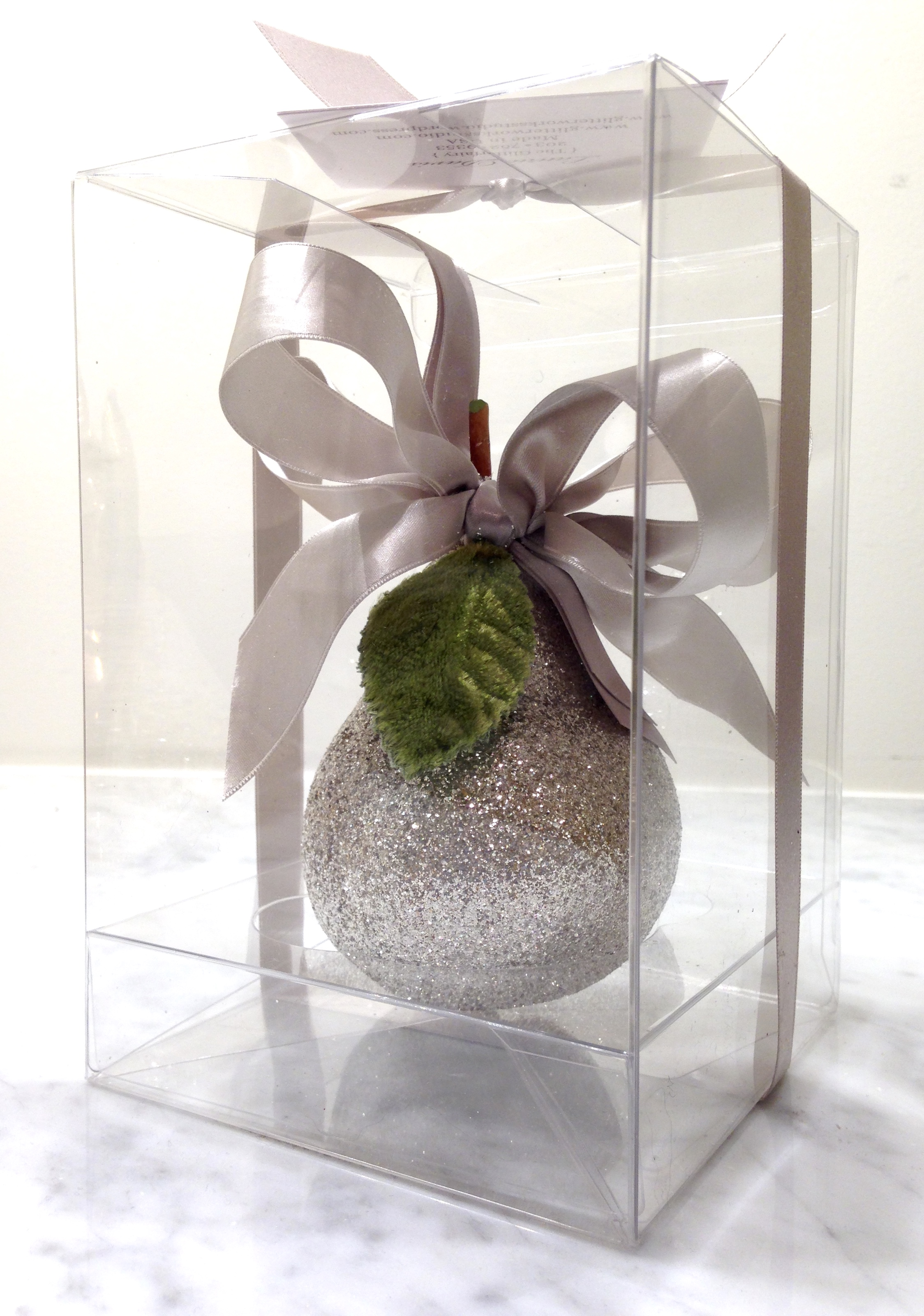 Silver Pear in Box