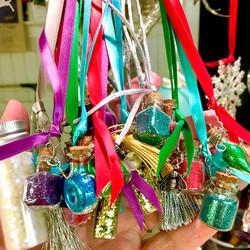 fairy wishing bottles on ribbon