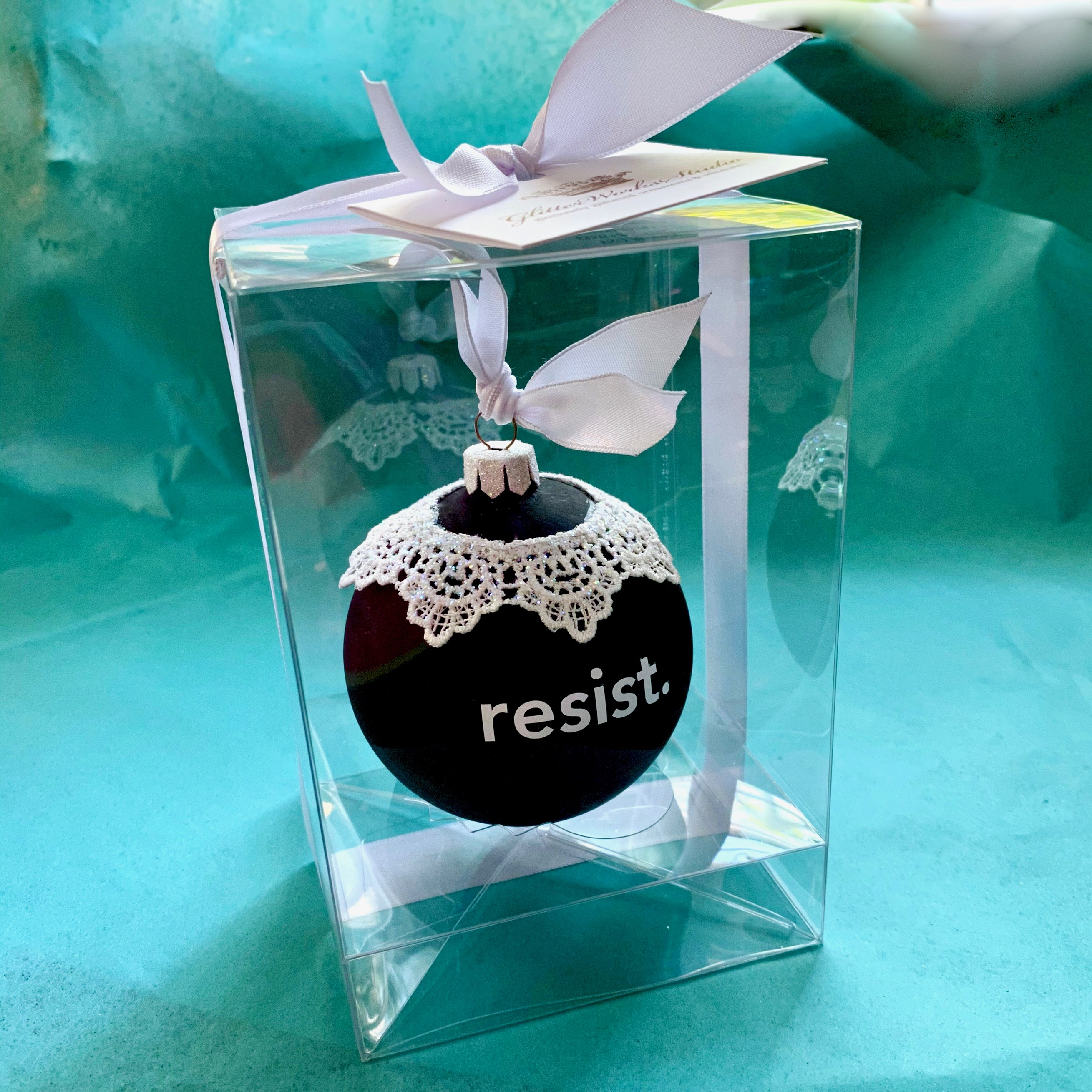 RBG Resist (large) lace collar in packaging $35