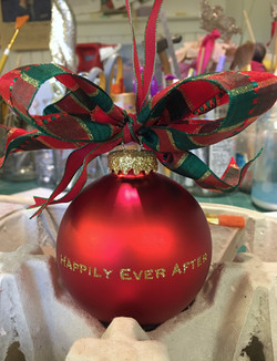 flip side Mr. & Mrs. Glass  Ornament