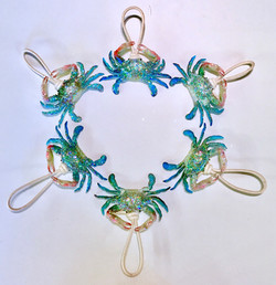 baby blue crab ornaments