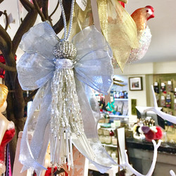 silver angel tassel ornament