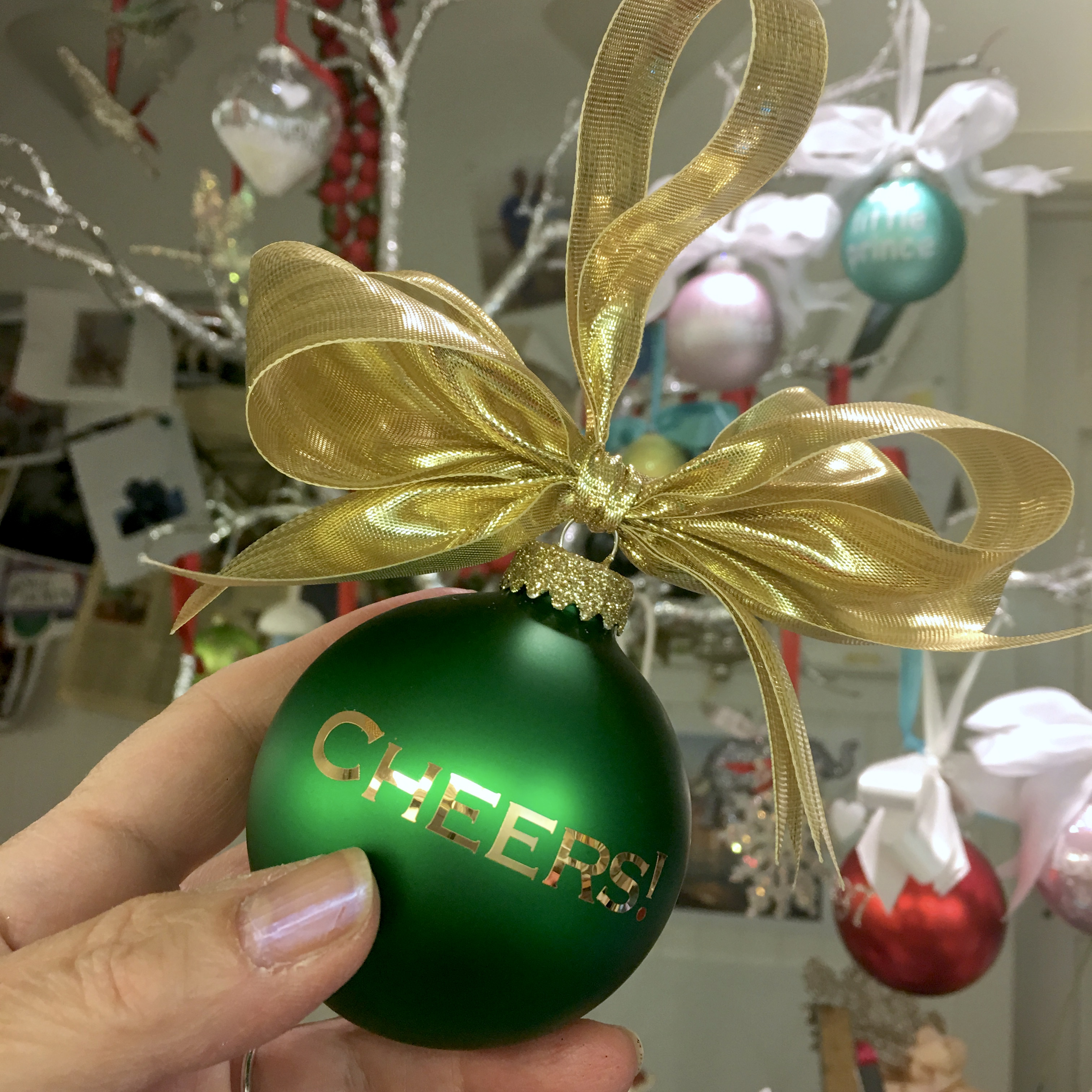 CHEERS! Glass Ornament