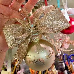 feeling bubbly! glass ornament