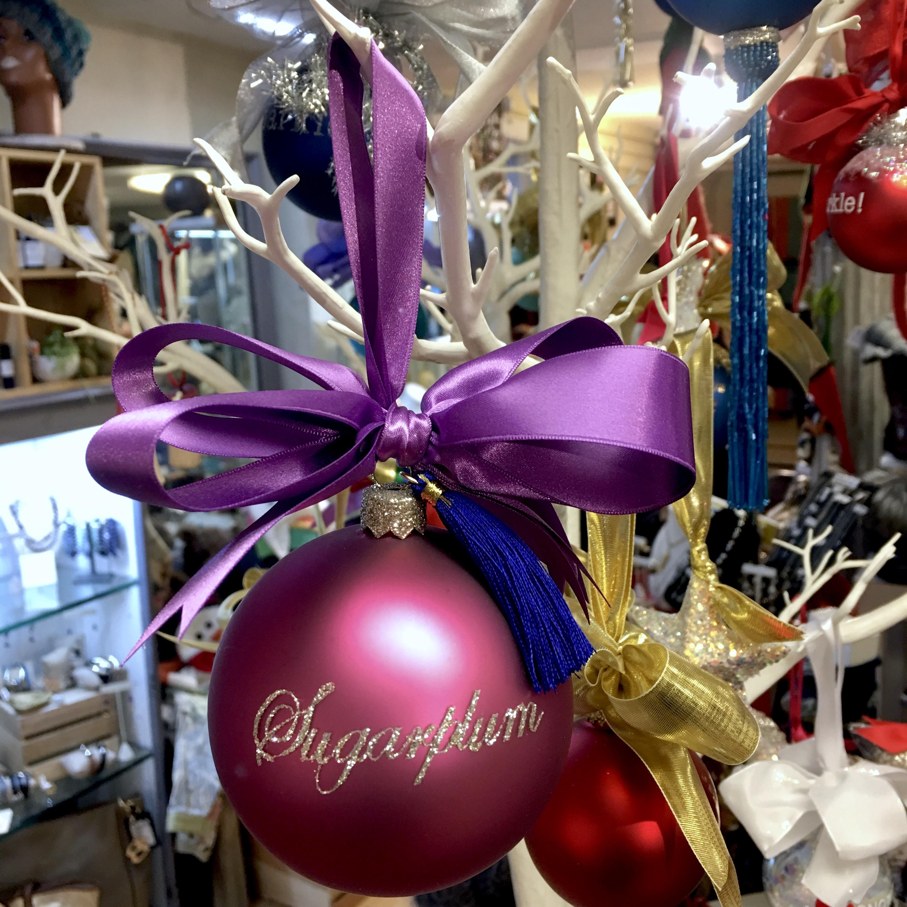 Sugarplum glass ornament
