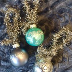 love peace joy mini glass ball orn
