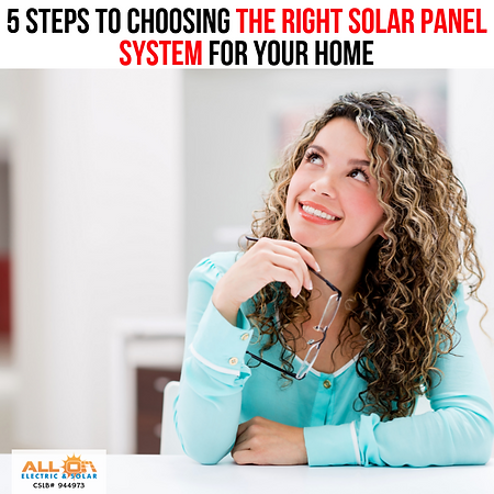 5 Steps to Choosing the Right Solar Pane