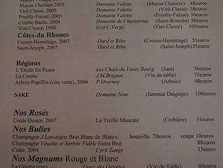 Wijnkaarten in Restaurants,....
