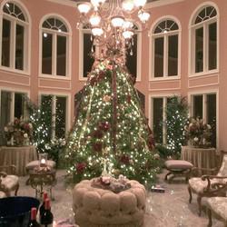 Xmas Tree at a home holiday Party