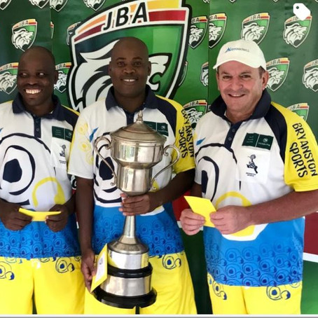 JBA Men's Two Bowls Trips won by Bryanston Sports Club