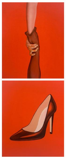 Sombody-Human 22x27cm(one pic) 兩件為一組 oil on canvas 2021